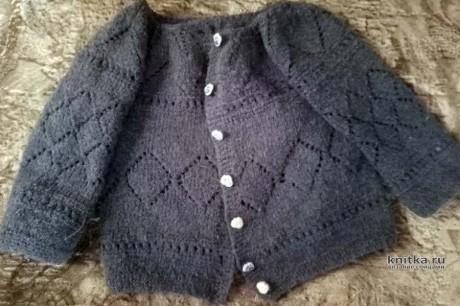 Кофточка для девочки спицами. Работа Ивановой Людмилы вязание и схемы вязания