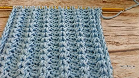 Оригинальная рельефная РЕЗИНКА спицами. Описание и видео-урок вязание и схемы вязания