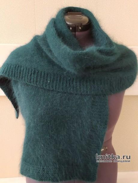 Шапка, шарф, варежки из пуха норки. Работа TatVen вязание и схемы вязания