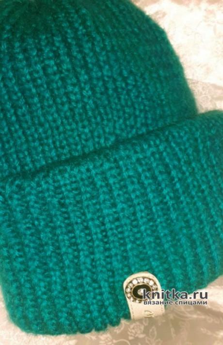 Шапка такори с двойным отворотом. Работа Маргариты вязание и схемы вязания