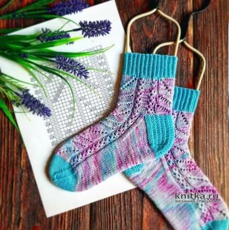 Схема узора для носков спицами Морозное ЛЕТО. Вязание спицами.