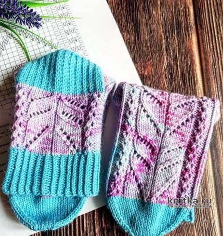 Схема узора для носков спицами Морозное ЛЕТО вязание и схемы вязания