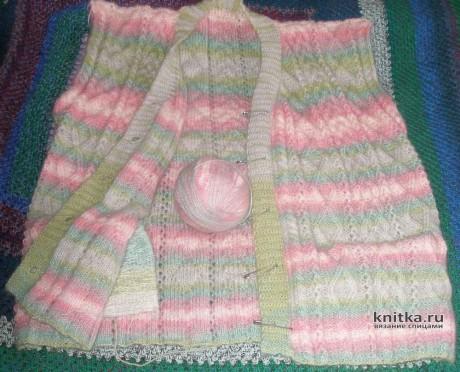 Женская безрукавка спицами. Работа Елены вязание и схемы вязания