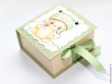 Как сделать красивую упаковку для маленькой игрушки в техник скрапбукинг