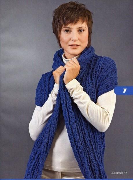 Шарф-жилет, шарф-трансформер (схема и описание)