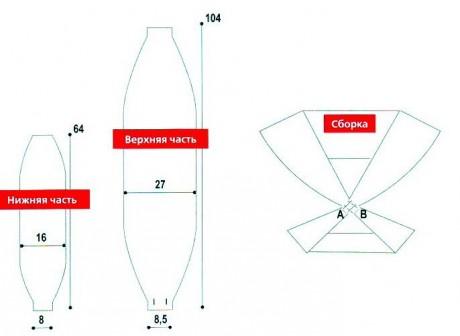Красная накидка - тарнсформер Схема и описание вязания
