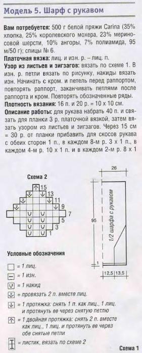Вяжем белоснежный Шарф - трансформер