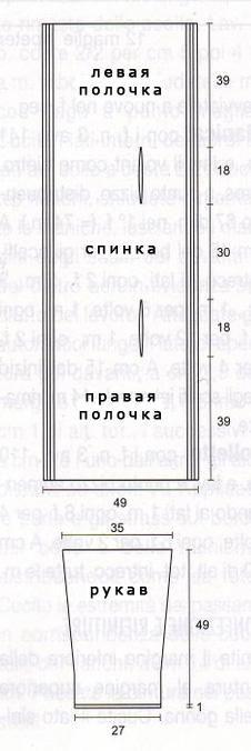 Накидка - трансформер с рукавами
