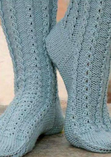 Вязанные спицами носки Spring out 1