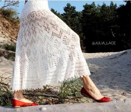 Ажурные юбки можно связать на лето спицами