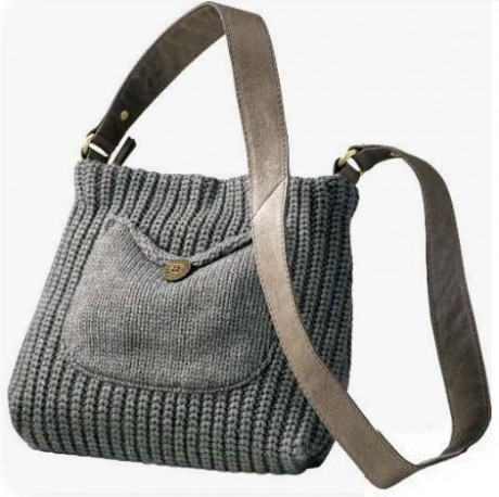 Летние сумки, связанные спицами