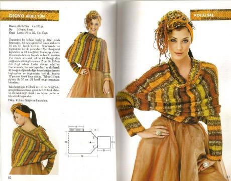 теплый шарф - трансформер схема и описание