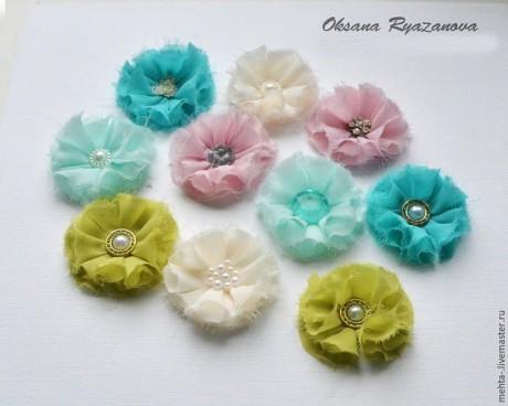 Как сделать цветы из ткани для скрапбукинга