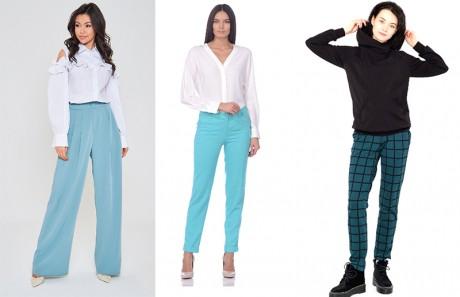 Модели бирюзовых брюк