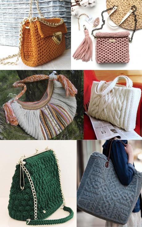 Вязаные авторские сумки - интересные модели