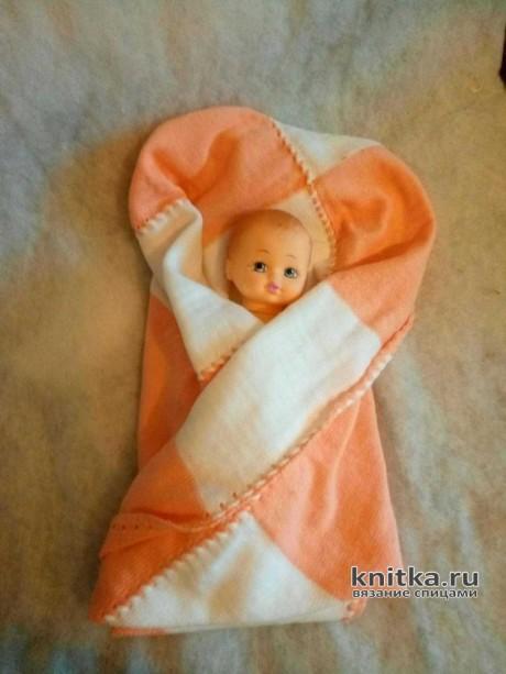 Плед для новорожденного спицами. Работа Ивановой Людмилы вязание и схемы вязания