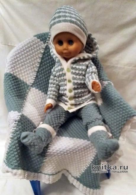 Вязаный комплект для малыша от 0 до 1 г. Работа Ивановой Людмилы. Вязание спицами.