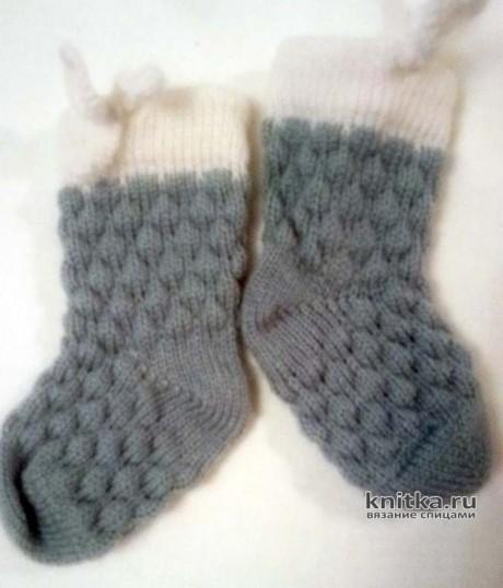 Вязаный комплект для малыша от 0 до 1 г. Работа Ивановой Людмилы вязание и схемы вязания