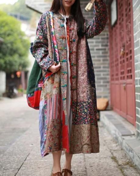 Верхняя одежда в стиле пэчворк