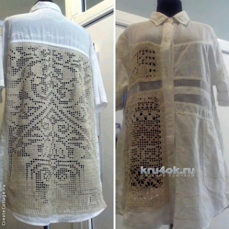 Блуза в технике пэчворк (одежда)