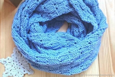Как связать красивый шарф спицами, идеи из интернет