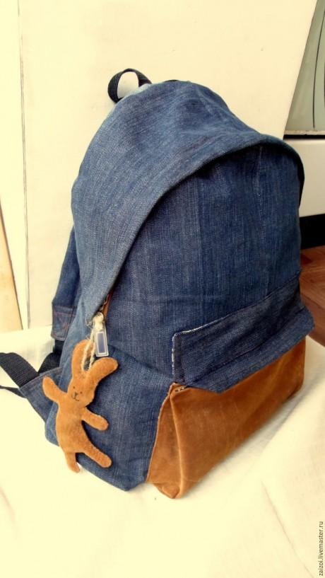 Переделка старых джинсов в рюкзак