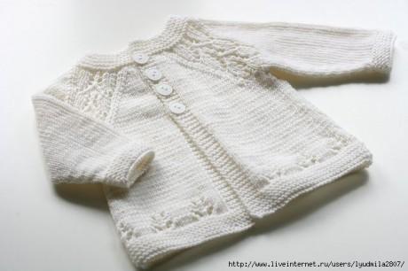 Кофточка для новорожденного малыша спицами, подборка 3