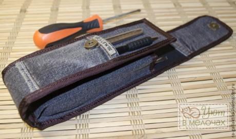Сумка из джинсов для инструментов