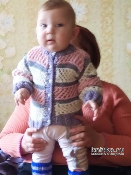 Кофточка и юбочка для девочки на 1-2 года. Работа Ирины Промашковой вязание и схемы вязания