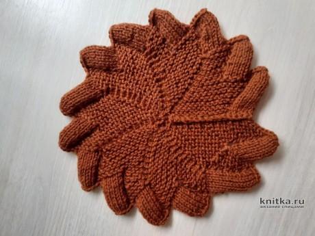 Прихватка связанная спицами. Работа Валерии вязание и схемы вязания