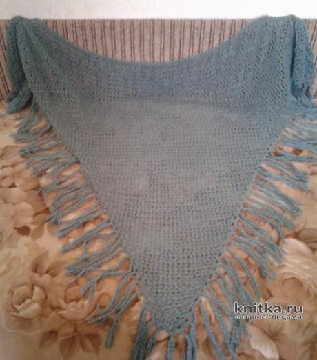 Шаль спицами из YarnArt Begonia. Работа Ладной Натальи вязание и схемы вязания