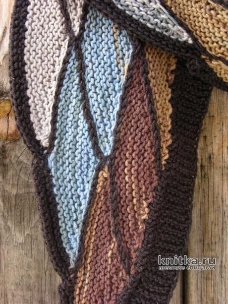 Шарфик из пряжи секционного крашения. Работа Натальи Тригалевой aka Pescada вязание и схемы вязания