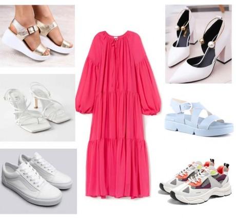 С какими туфлями стоит носить розовое платье