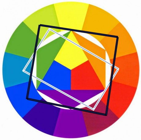 тетрада сочетание цветов в круге Иттена