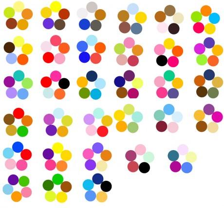 примеры сочетания цветов по кругу иттена