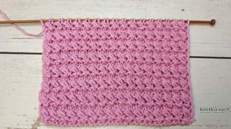 Рельефный узор спицами, описание и видео-урок вязание и схемы вязания