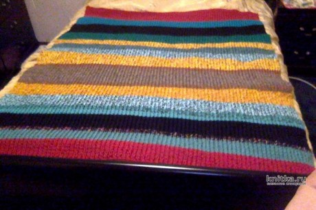 Вязанный спицами плед. Работа lubov вязание и схемы вязания