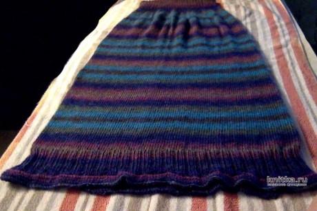 Женская юбка спицами. Работа lubov. Вязание спицами. 0n