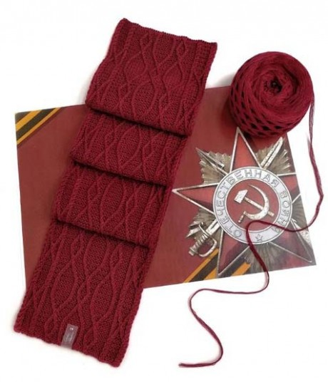 Схема узора для шарфа спицами