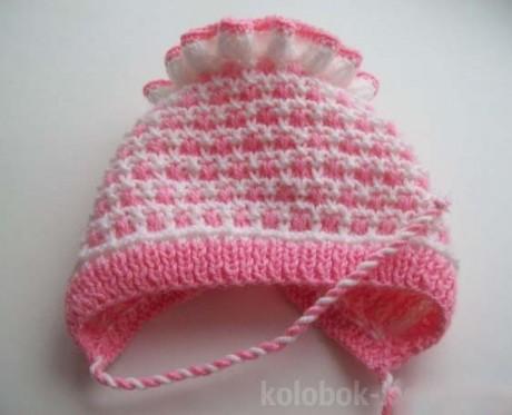 Чепчик с рюшами для новорожденного малыша