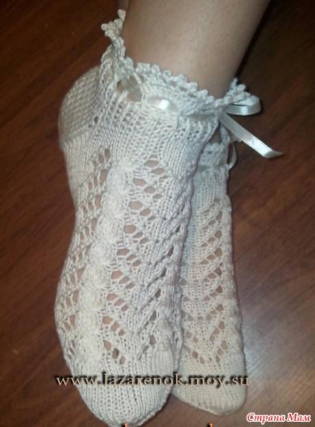 Как связать ажурные носки, пошаговый мастер-класс