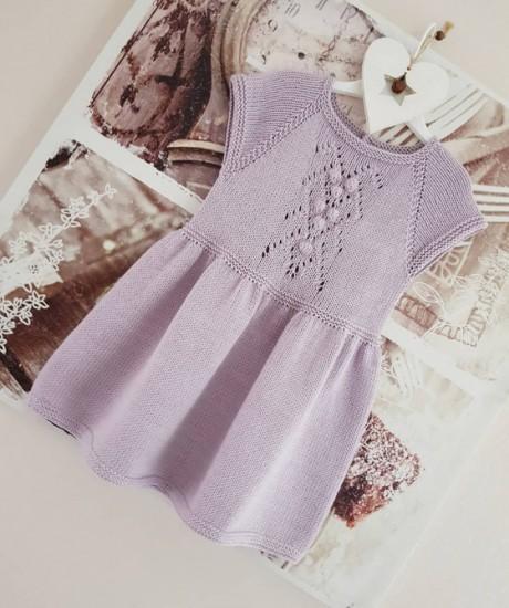 Платье для девочки спицами. Вязание спицами.