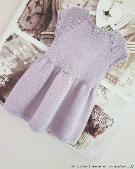Платье для девочки спицами 4