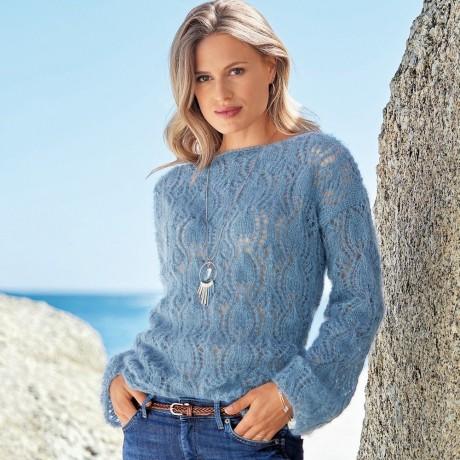 Ажурный свитер для женщин из мохера