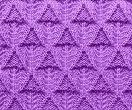 Подборка схем и описаний для вязания УЗОРА ЕЛОЧКА спицами