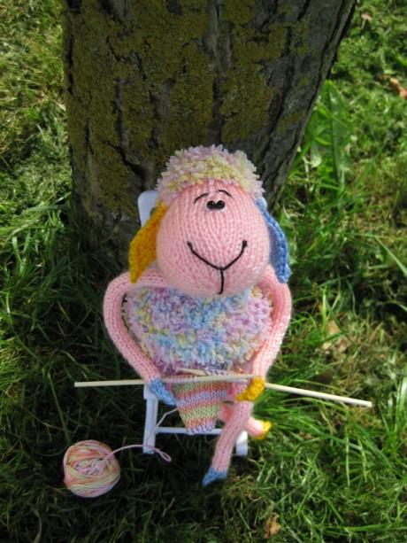 Как связать овечку спицами 3