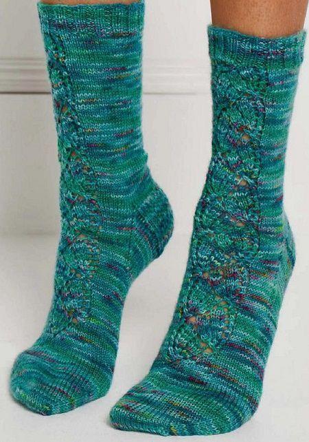 Красивые носки спицами Summer Wine. Вязание спицами.