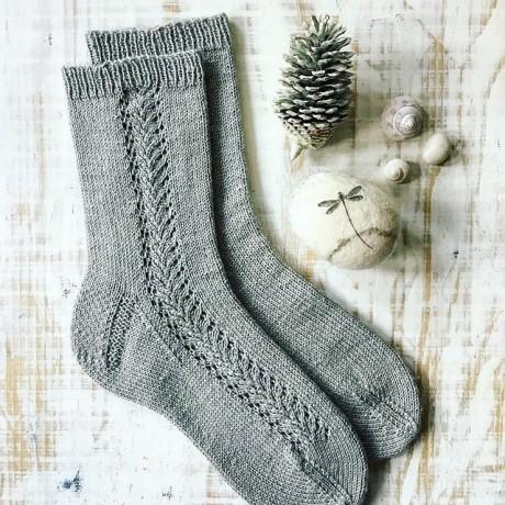 Носки спицами Winter Frost 0