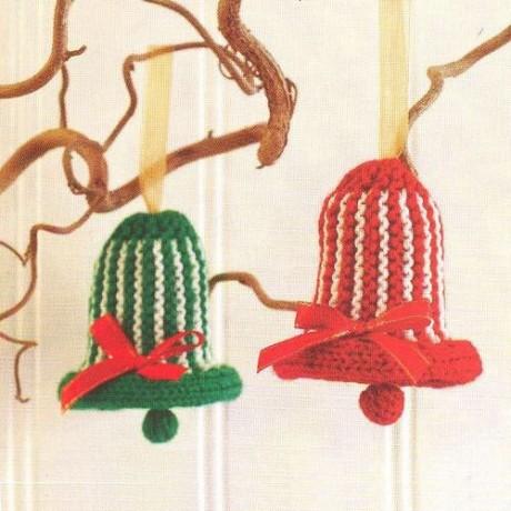 Колокольчик спицами - новогодняя игрушка. Вязание спицами.