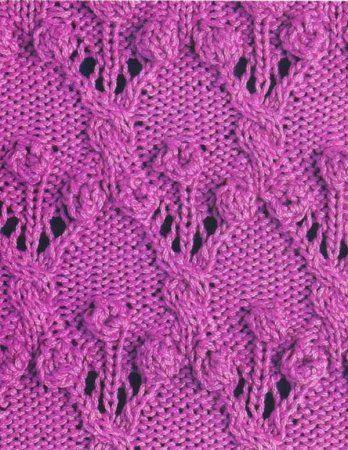 Схемы вязания узоров с шишечками